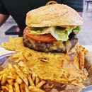 Cheese Skirt Beef Burger ($6.80/A La Carte, $8.80/set).