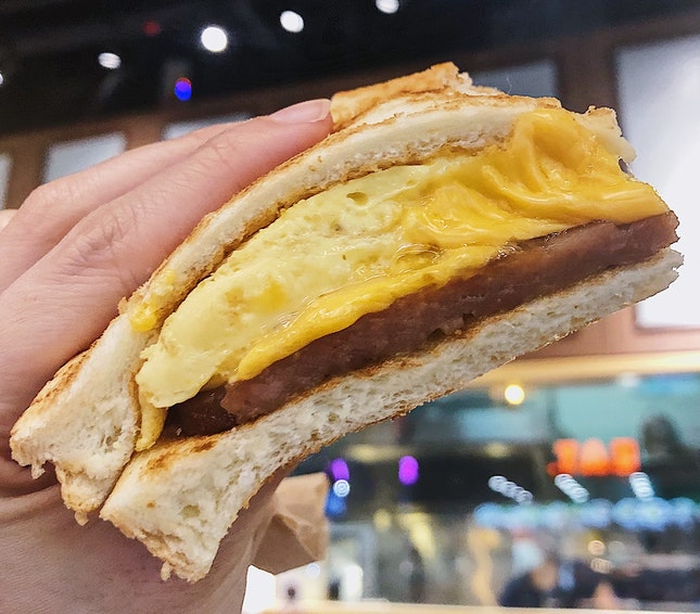 Pork Egg And Cheese Sandwich ($6.30 For A La Carte).