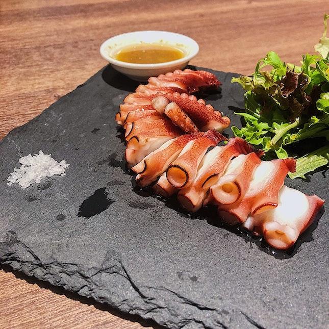 Salt Grilled Tako (Octopus) ($15).