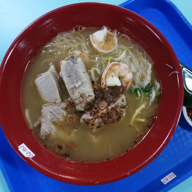 排骨虾米粉汤