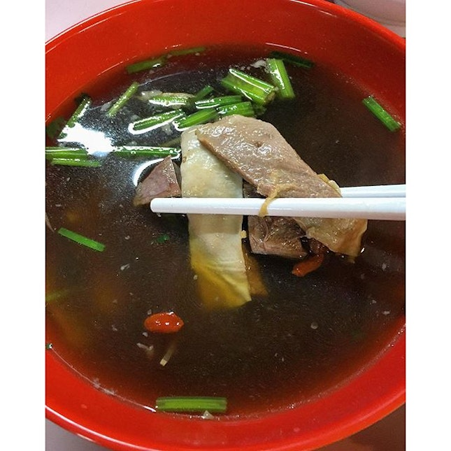 Herbal mutton soup, always a treat.