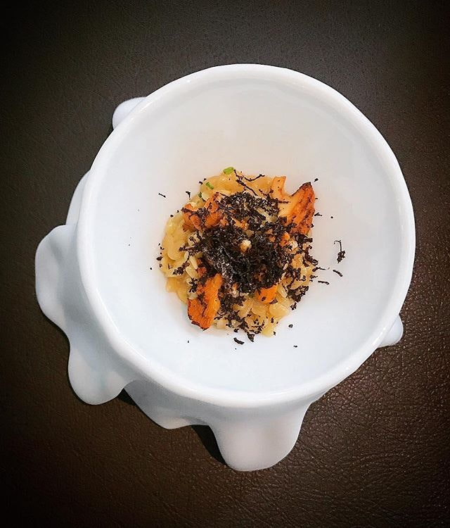 Orzo + chanterelle + truffle = ❤️❤️❤️.