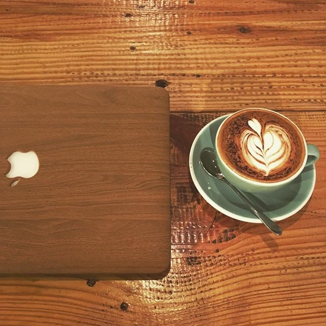 •Wood on Wood • Enjoying a cuppa while working on my projects.