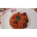 Pasta With Meetball Tomatto Sausage