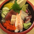 #chirashidon #chirashi #don #sashimi #prawn #salmon #tuna #octopus #squid #fish #japanesefood #japanese #food #lunch #singapore