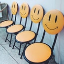 Be with and smile #100happydays #day28 #smiles #chair #cafe #love #partner #thailand #bangkok