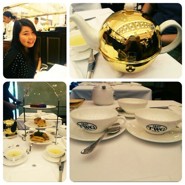High tea at TWG:))) #instapic #instagram #instadaily #instacool #pictureoftheday #ilovefood #food #foodporn #beautiful #nice #environment #Asia #instagood #instamillion #igers #igaddict #bestoftheday #best #friends #tagforlikes #hightea #TWG #pavilion #first #Time #golden #teapot