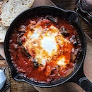 #AnythingAlsoEat - Baked Eggs with Mushrooms, Chorizo and Buffalo Mozarella ~•~•~•~•~ My friends and I love Backlane Coffee for their ambiance and food.