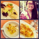 #Dinner: #Unlimited #Salad, Cream of #potato #soup, #AlmondCrusted #FishFillet.
