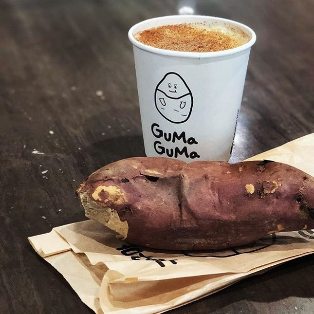 For Roasted Korean Sweet Potatoes and Lattes